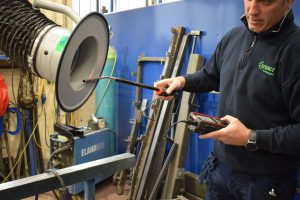 LEV testing for welding fume extraction