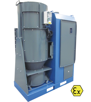 High vacuum filtration unit HFU-A for ATEX zone 20/22