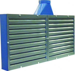 Extraction panel for stationary extraction of light dust or gases