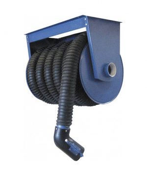 SRF vehicle exhaust fume hose reel